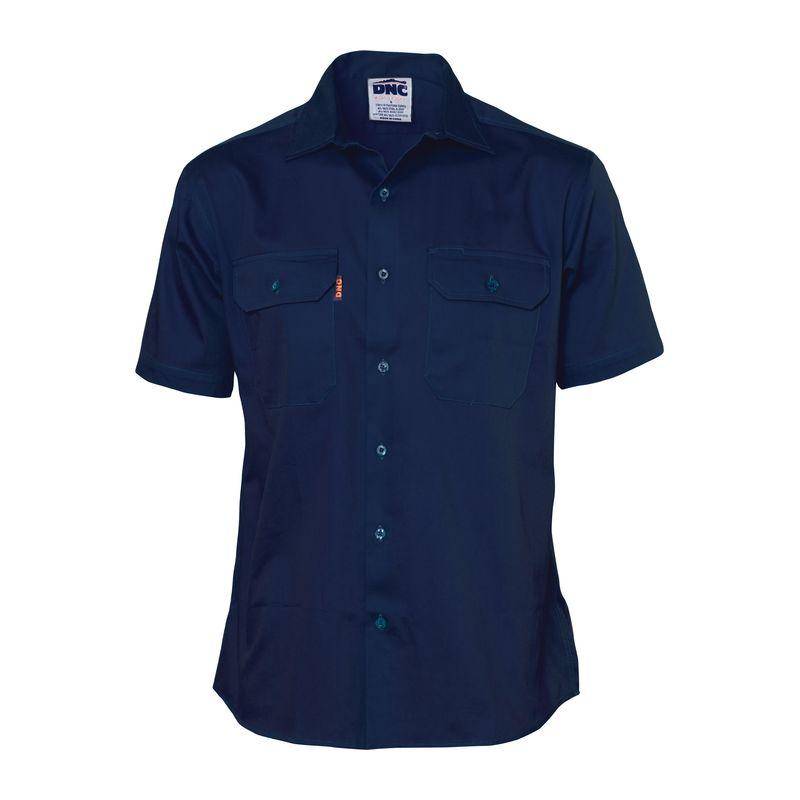 Dnc Cotton Drill Work Shirt Short Sleeve 3201