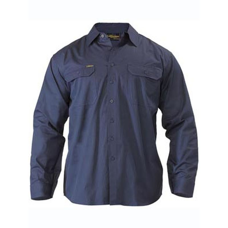 bisley men s cool light weight drill work shirt long