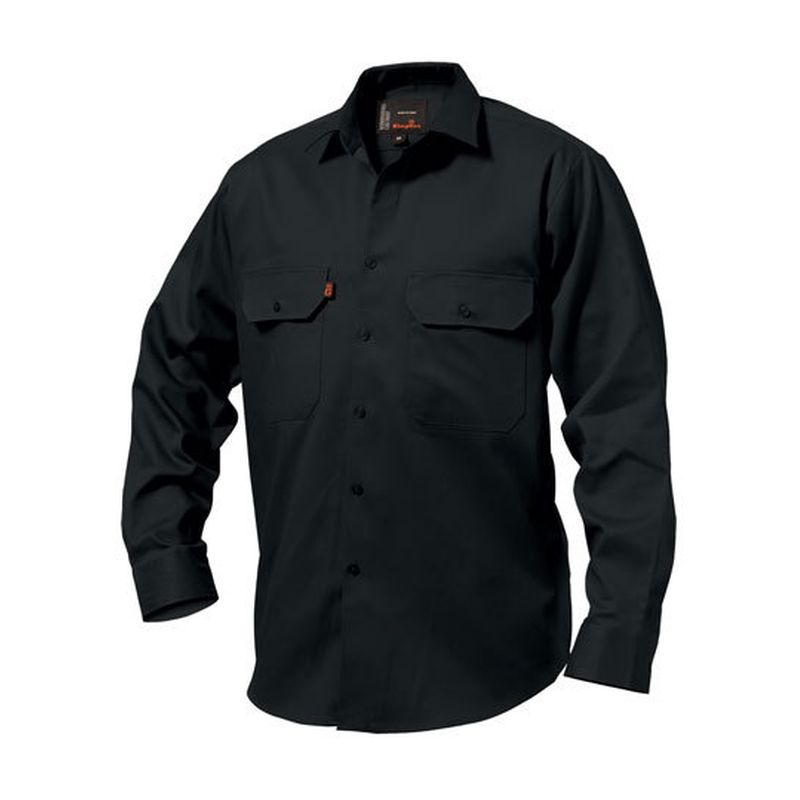 King Gee Men S Cotton Drill Work Shirt Long Sleeve