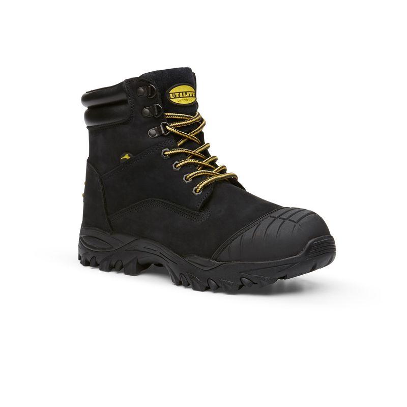 Diadora Craze Safety Boots Lace Up Zip Black Nubuck